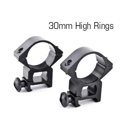 Anelli Alti Per Ottica 30mm Weaver 21mm