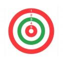 Bersaglio In Cartone Colorato 14x14cm Advance