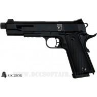Rudis VI Co2 Black Full Metal Secutor