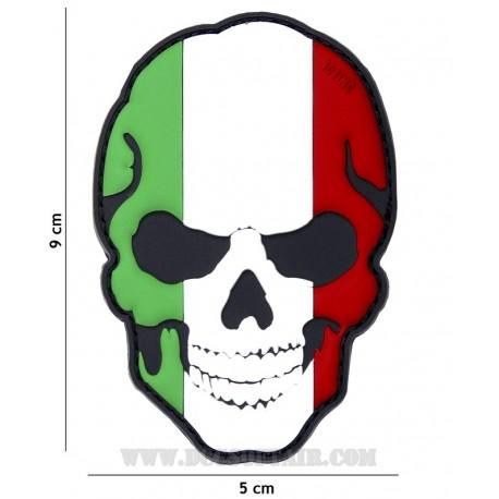Patch 3D Pvc Teschio Italia 101
