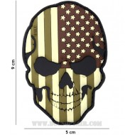 Patch 3D Pvc Teschio Usa Camo 101