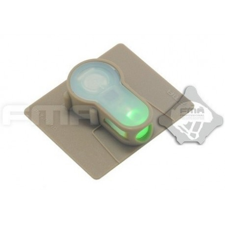Luce Strobo Velcro S-Lite Green Fma
