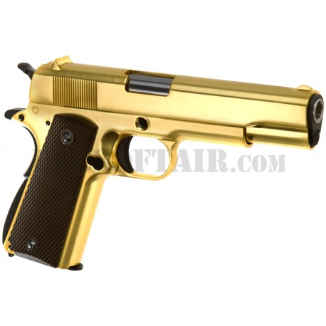 M1911A1 Gold Full Metal Gas We