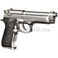 Beretta M92S Chrome Full Metal Gas We