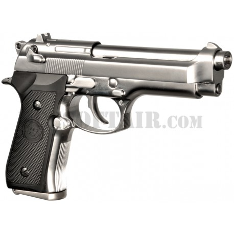 Beretta 92SB Chrome Full Metal Gas We
