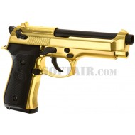 Beretta M92 Gold Full Metal Gas We