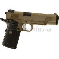 1911 Meu Rail Tan Gas Full Metal We