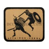 Patch Acta Non Verba Secutor Ricamata