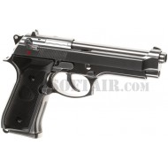 Beretta M92 Elite Poseidon Chrome Gbb Full Metal B&W