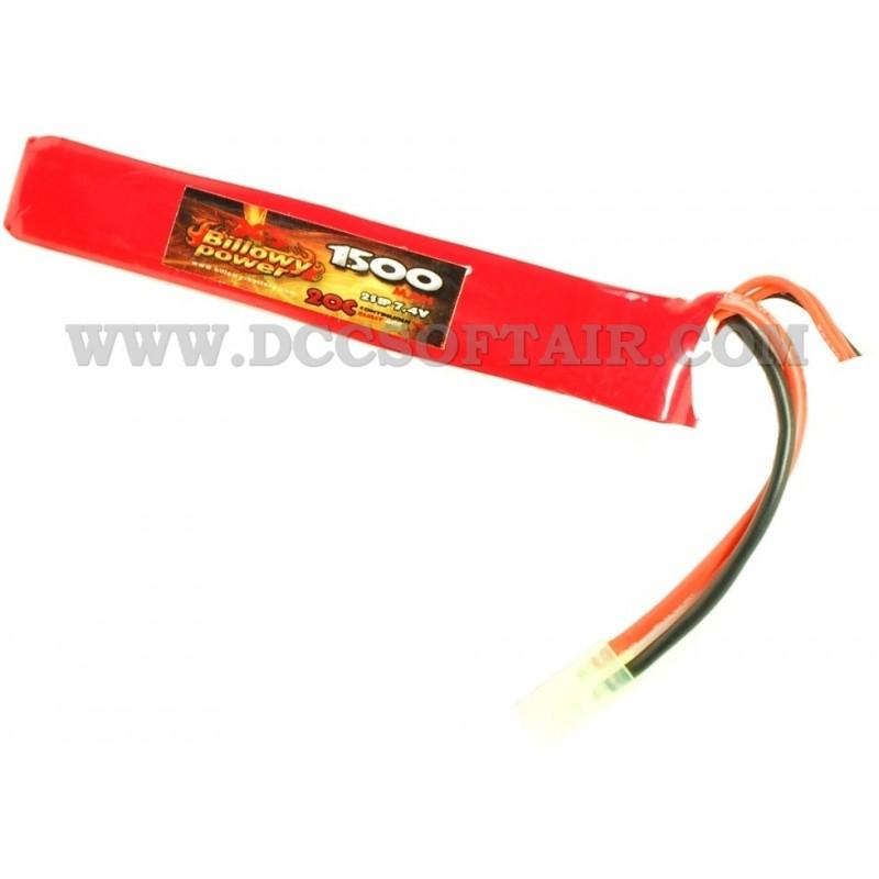 billowy power 7.4  Batteria Li-Po 7.4V x 1500mAh 20C Billowy Power