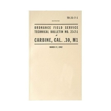 Manuale Carabina M1 Cal.30 Winchester