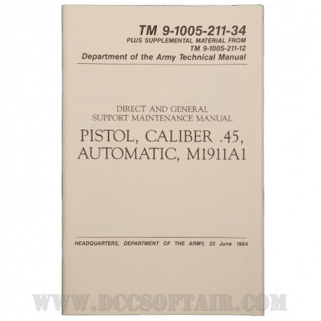 Manuale Pistola M1911A1 Cal.45