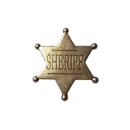 Stella Da Sceriffo 4,5cm In Metallo
