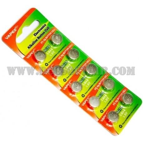 Coppia Batterie LR44/AG13 1.5v Vapex