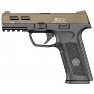 BLE-XAE Tan Black Leopard Eye Gas Metal Slide BlowBack Ics