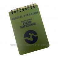Blocknotes Con Matita Waterproof Special Operation