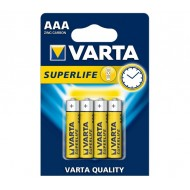 Blister 4 Batterie AAA 1.5V Superlife Varta