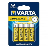 Blister 4 Batterie AA 1.5V Superlife Varta