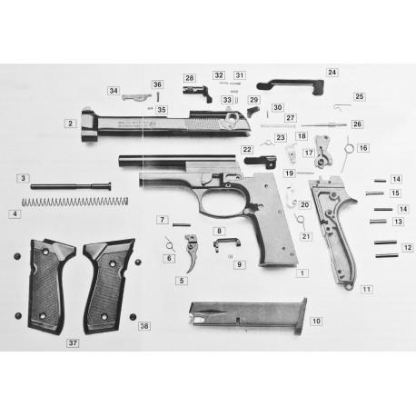 Ricambi Beretta B92 a Salve Cal.8mm Bruni