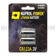 Coppia Batterie CR123A 3V Nuprol