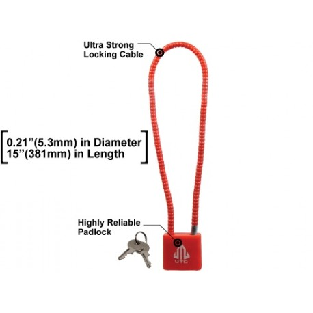 "Cable Lock F5.3mmX15"" Doj Approved Utg"