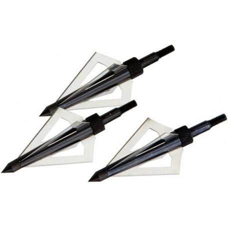 Set 3 Punte Da Caccia 4 Lame Per Freccia Crossbow