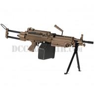 Mitragliatrice M249 Para Saw Desert Full Metal A&K