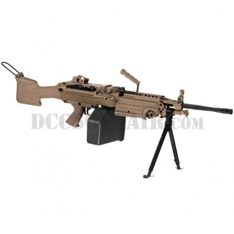 Mitragliatrice M249 MKII Saw Desert Full Metal A&K