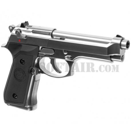 Beretta 92SB V2 Chrome Full Metal Gas We
