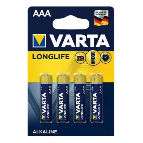 Blister 4 Batterie AAA 1.5V Longlife Varta